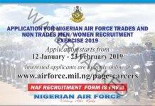 Nigerian Air Force Begins 2019 Recruitment   Western Daily News